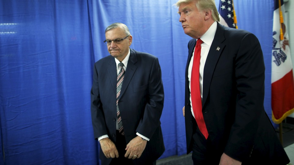 Former Sheriff Joe Arpaio supported Donald Trump's birther crusade and presidential campaign. Now, Trump has pardoned Arpaio, who was convicted of criminal contempt for violating a federal court order.