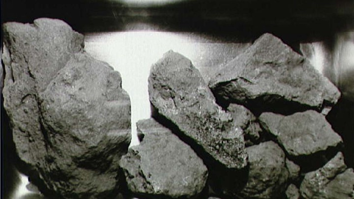 Lunar rocks collected during the Apollo 11 mission