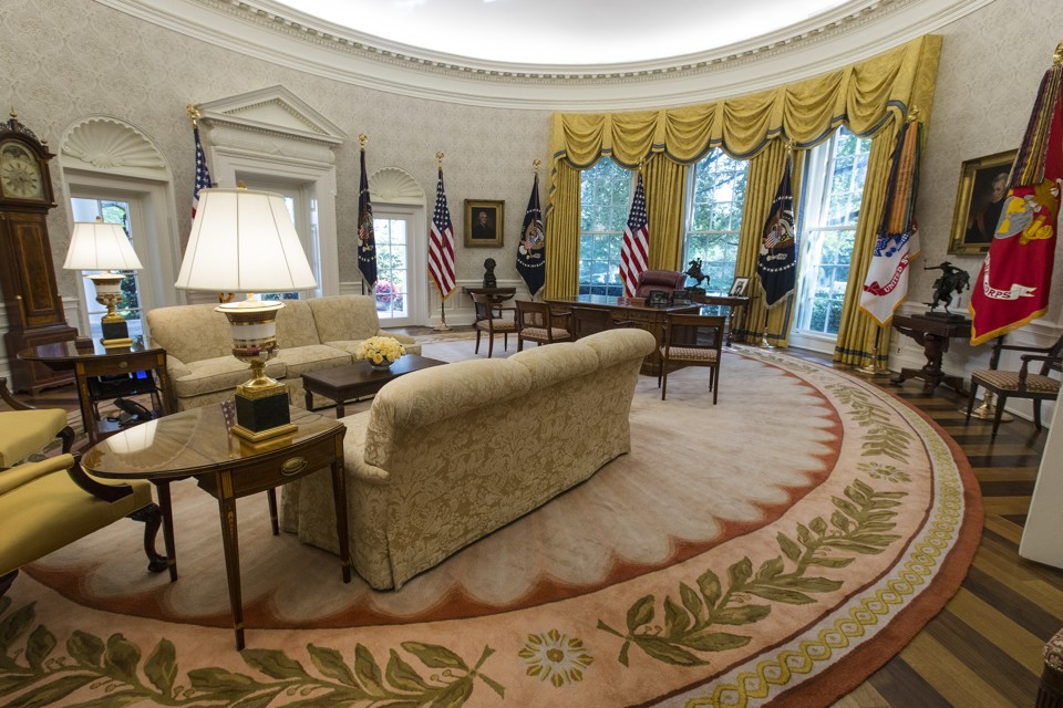 the oval office. donald trumpu0027s newly renovated oval office the p