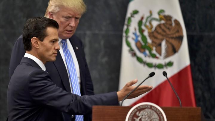 Donald Trump with Mexican President Enrique Peña Nieto