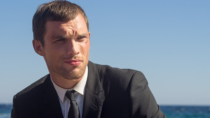 The actor Ed Skrein in a still from the film 'The Transporter Refueled'