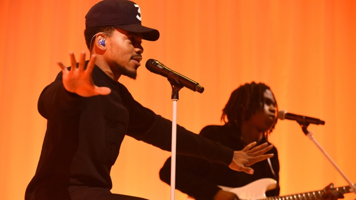 Chance the Rapper during Monday's September 25, 2017 show of 'The Late Show With Stephen Colbert'