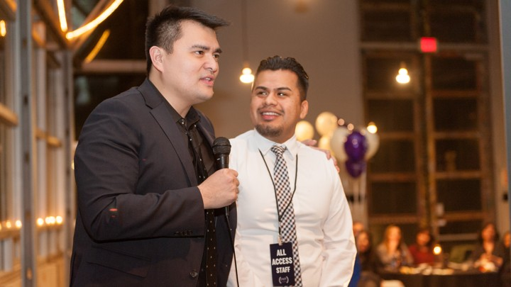 Jose Antonio Vargas and Yosimar Reyes speaking at an event