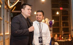 Jose Antonio Vargas and Yosimar Reyes speaking at an event