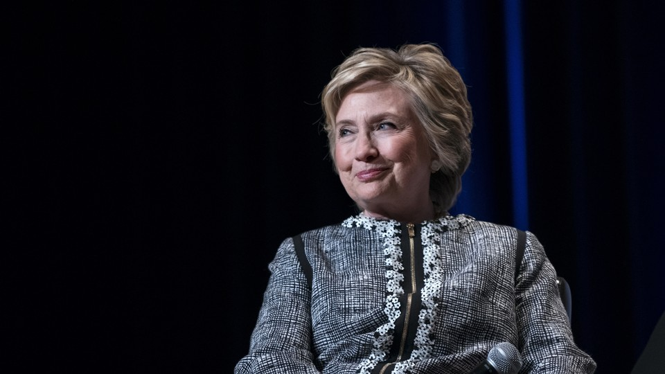 Hillary Clinton speaks at a New York book event in June