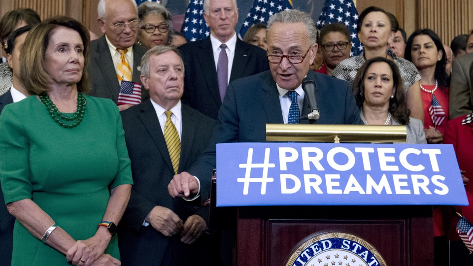 Image result for PHOTOS OF TRUMP WORKING WITH DEMOCRATS ON DACA