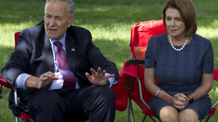Democratic leaders Chuck Schumer and Nancy Pelosi