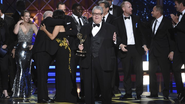 The scene after 'Veep' won its third consecutive Best Comedy Series award at the 2017 Emmys