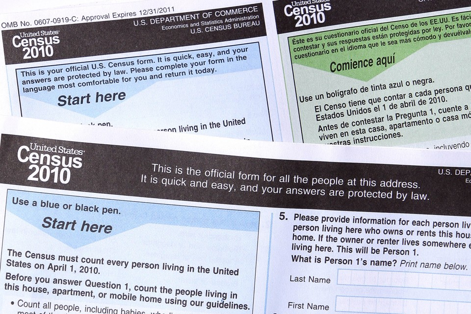 Copies of the 2010 U.S. census