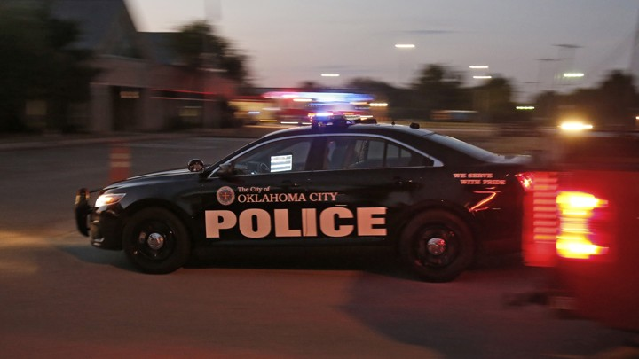 An Oklahoma City police patrol car