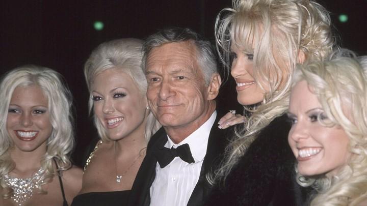 Hugh Hefner with 'Playboy' models