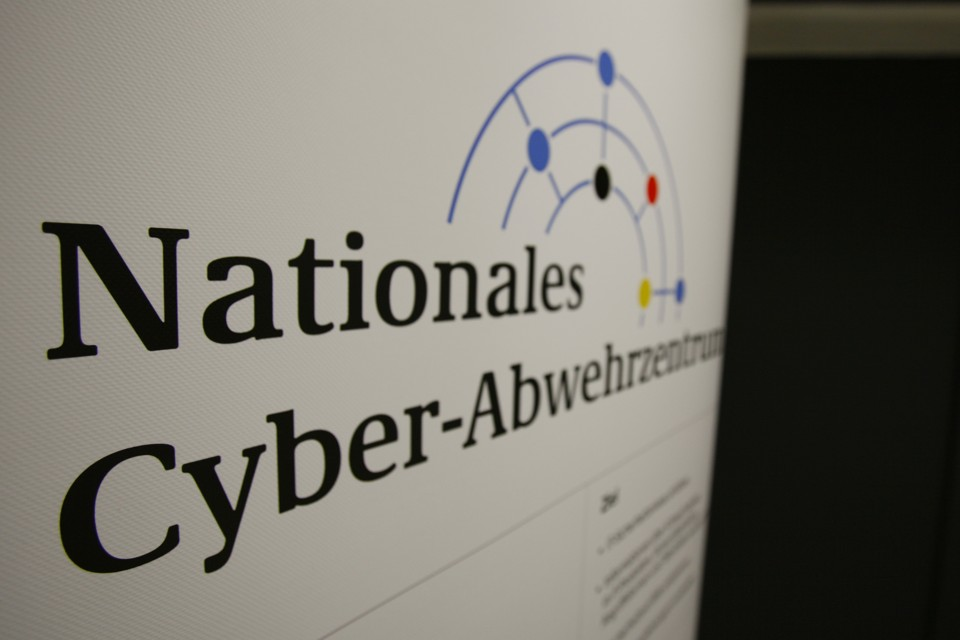 The logo of Germany's newly created national cyber attack protection office.
