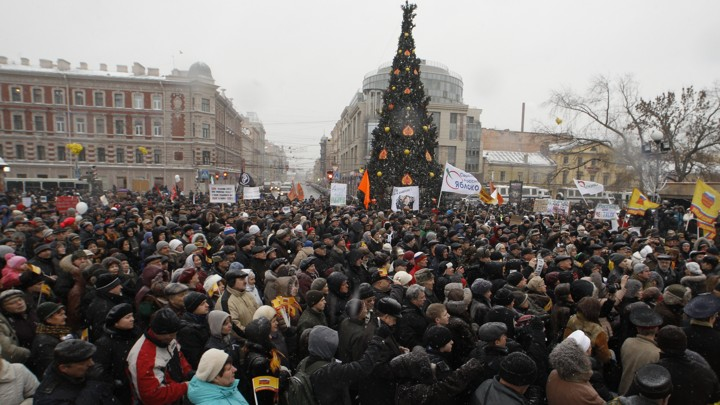 Russia alleged that the U.S. was behind protests in Moscow in December 2011.