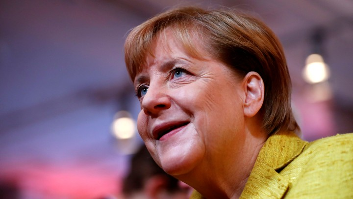 German Chancellor Angela Merkelin Berlin, Germanyon September 23, 2017.