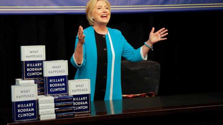 Hillary Clinton attends a signing of her new book.
