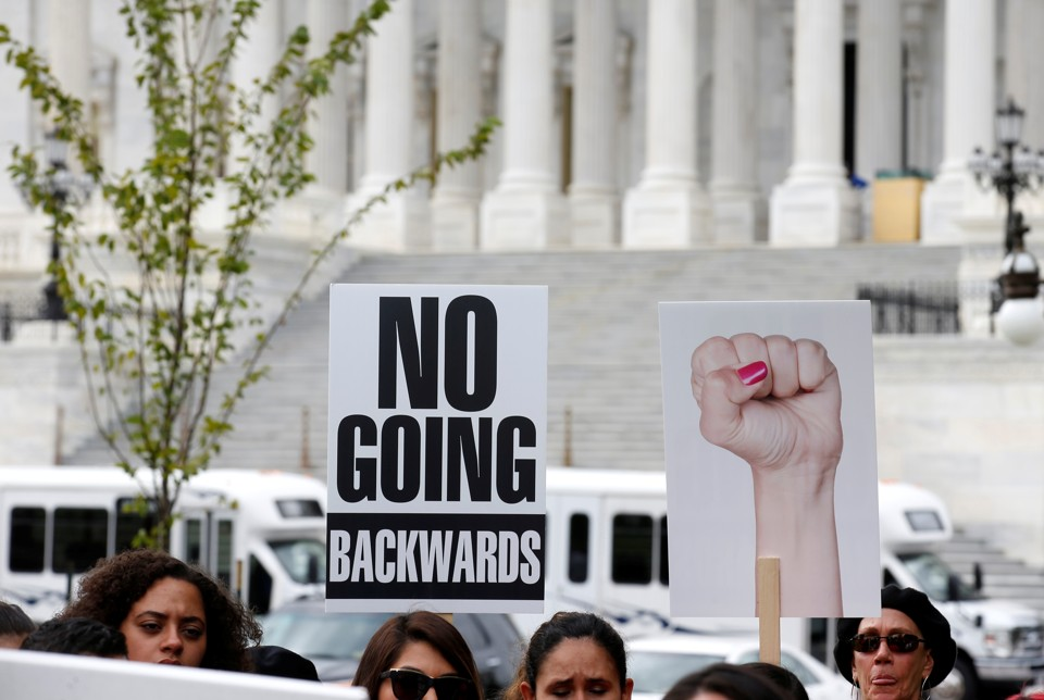 Immigration activists protest on Capitol Hill.