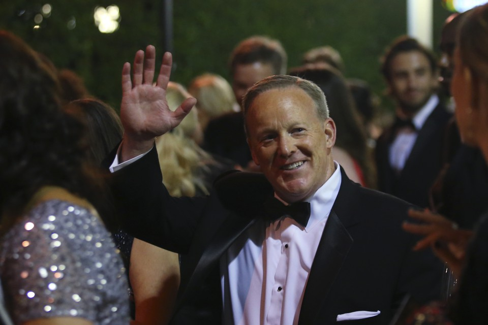 Sean Spicer at the 69th Prime Time Emmy Awards Governors Ball in Los Angeles, California, September 17, 2017.