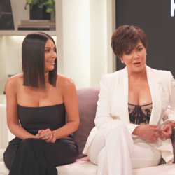 Kim Kardashian, Kris Jenner, and Khloe Kardashian during the 'Keeping Up With the Kardashians' 10-year-anniversary special