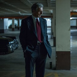 Liam Neeson and Julian Morris in 'Mark Felt: The Man Who Brought Down the White House'
