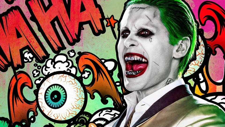Jared Leto as the Joker on the poster for the film 'Suicide Squad'