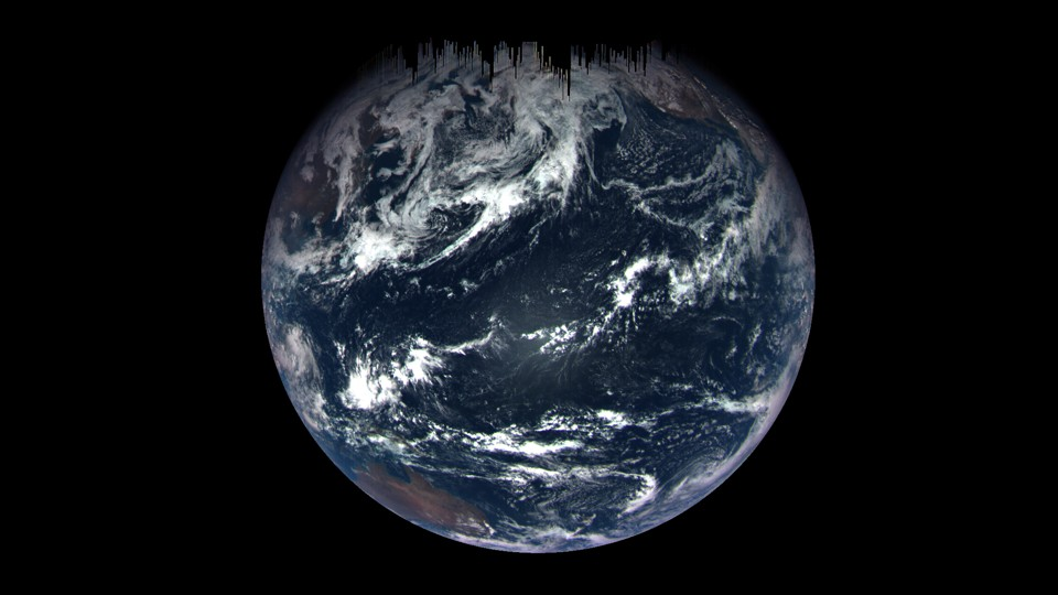 An image of Earth taken September 22 by the OSIRIS-REx spacecraft during its gravity-assist flyby