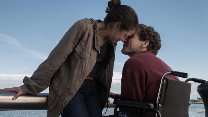 Tatiana Maslany and Jake Gyllenhaal in the film 'Stronger'