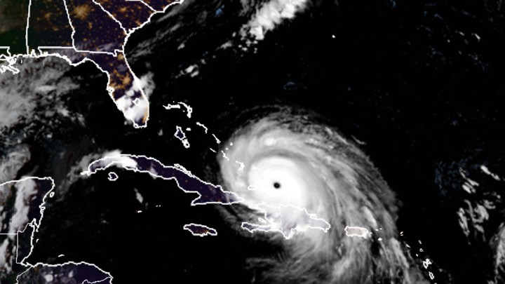 Hurricane Irma as seen from the GOES satellite