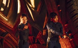 Michelle Yeoh and Sonequa Martin-Green in 'Star Trek: Discovery'