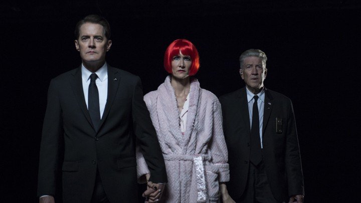 Kyle MacLachlan, Laura Dern, and David Lynch in the finale of 'Twin Peaks: The Return'