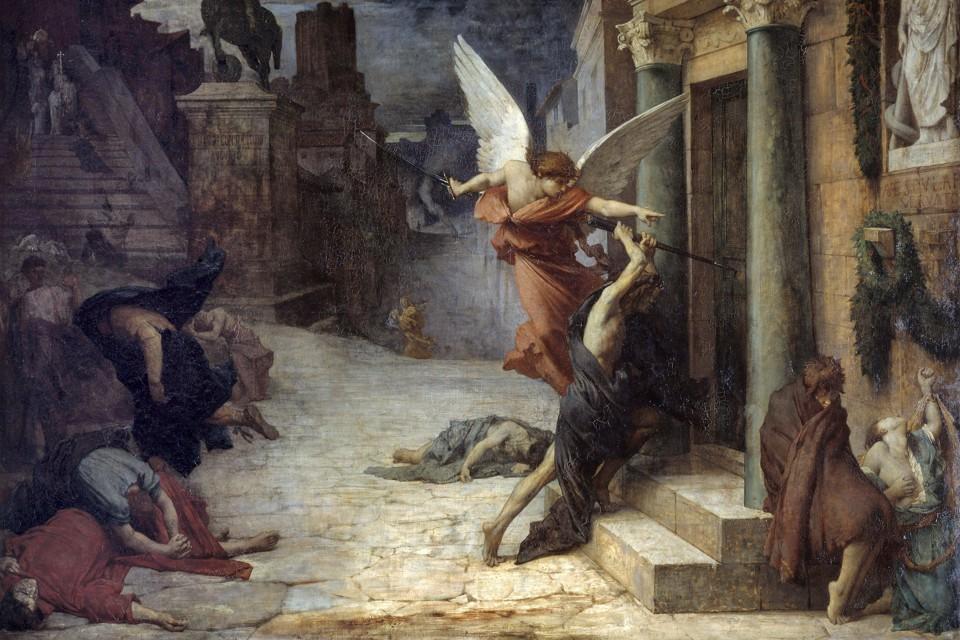 "Jules-Élie Delaunay's painting ""Plague in Rome"""