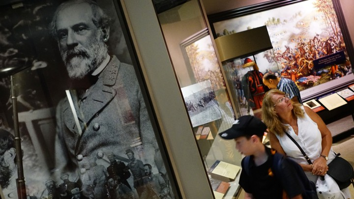 A portrait of Robert E. Lee at the National Museum of American History in Washington, D.C.