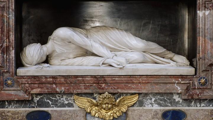 A statue of Saint Cecilia
