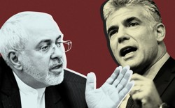 Yair Lapid, head of the Yesh Atid party, and Javad Zarif, Iran's foreign minister.