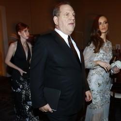 Harvey Weinstein arrives at the Golden Globe Awards in 2015.