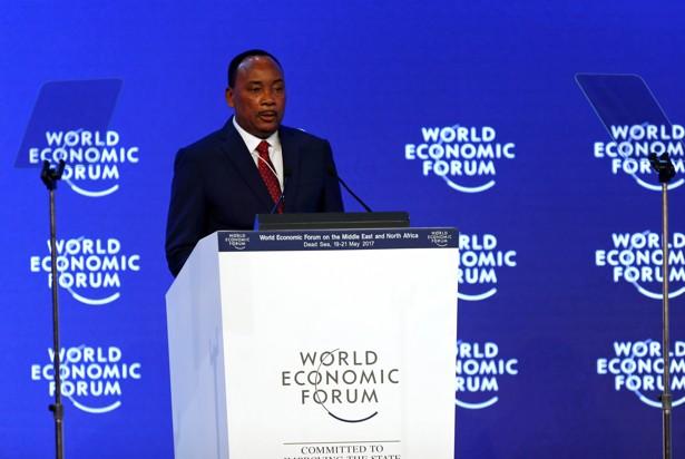 Niger's President Mahamadou Issoufou speaks