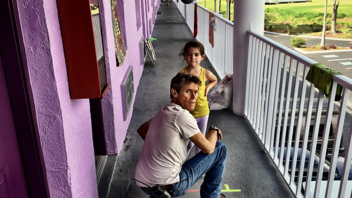 Willem Dafoe and Brooklynn Prince in 'The Florida Project'