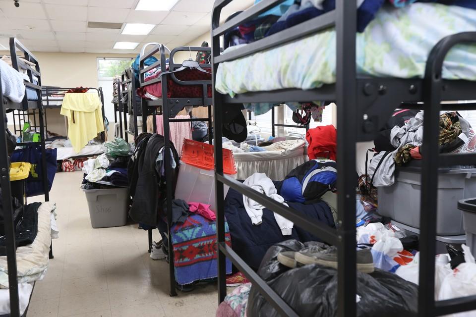A homeless shelter
