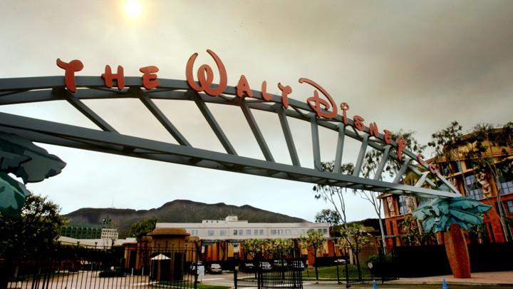 The entrance of the Walt Disney Company's corporate headquarters