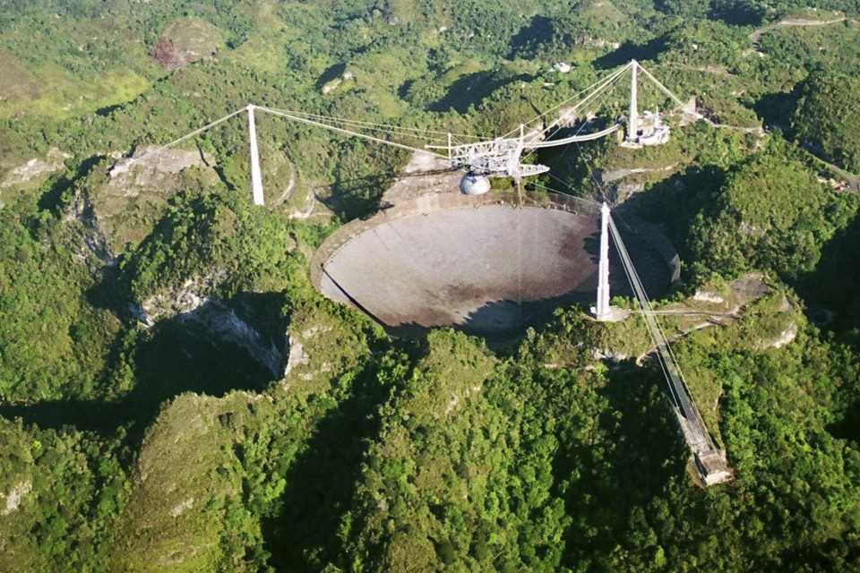 The Arecibo Observatory in Puerto Rico