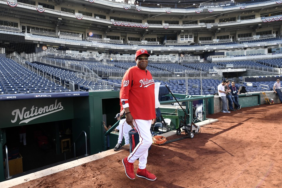 Being a good mlb manager is no longer good enough the atlantic washington nationals dusty baker walks on the field during practice at nationals park malvernweather Gallery