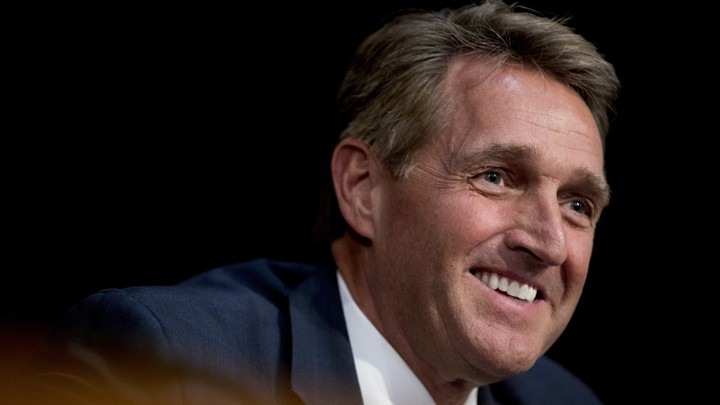 A close up of Jeff Flake