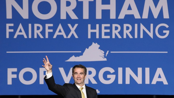 Governor-elect Ralph Northam at his election-night party