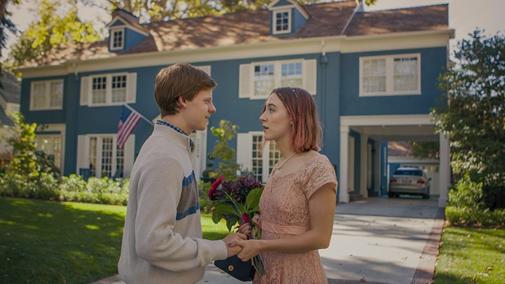 Lucas Hedges and Saoirse Ronan in 'Lady Bird'