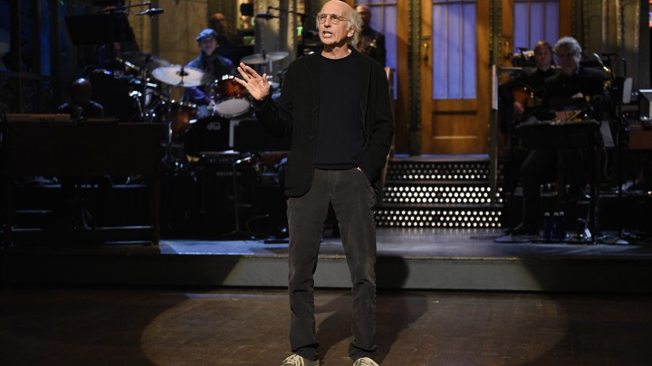 Larry David delivers the opening monologue on the November 4th episode of 'Saturday Night Live'