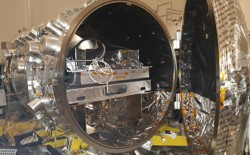 The vacuum chamber at NASA's Jet Propulsion Laboratory