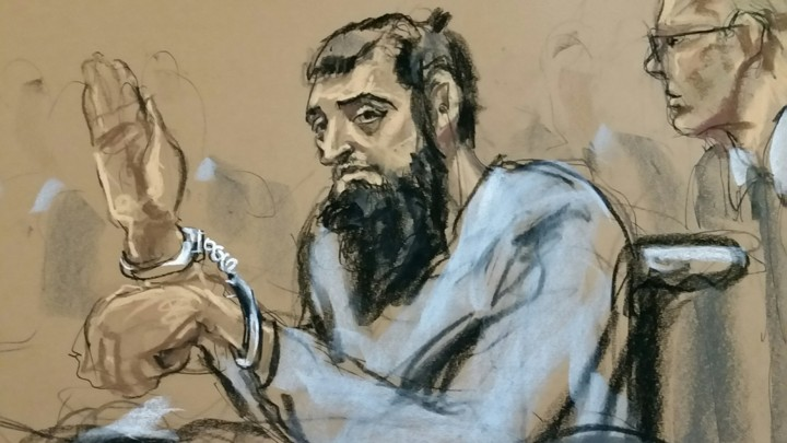 A courtroom sketch depicts Sayfullo Saipov, the suspect in the New York City truck attack