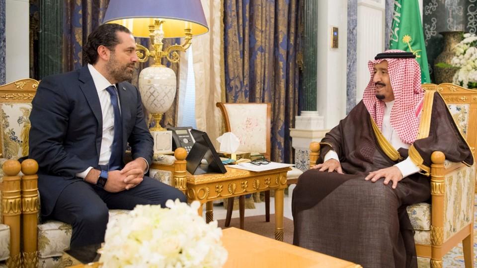 Saudi Arabia's King Salman bin Abdulaziz Al Saud meets with former Lebanese Prime Minister Saad al-Hariri