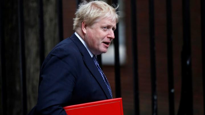 British Foreign Secretary Boris Johnsonarrives in Downing Street, London on November 14, 2017.