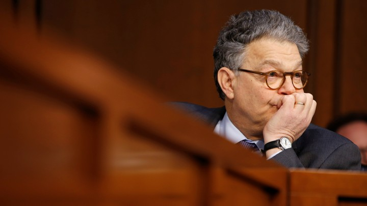 Senator Al Franken (D-MN) watches the Supreme Court nominee judge Neil Gorsuch testify before the Senate Judiciary Committee during his confirmation hearing on Capitol Hill in Washington on March 21, 2017.