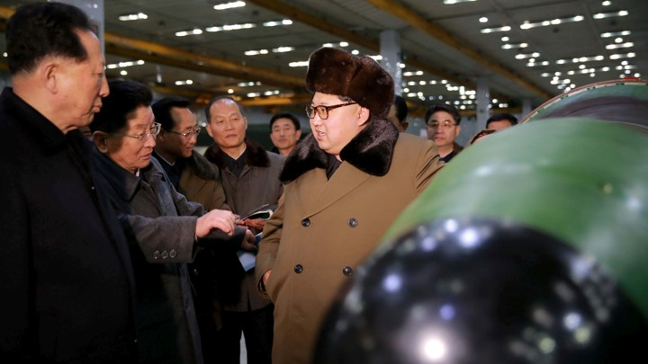 North Korean leader Kim Jong Un meets scientists and technicians